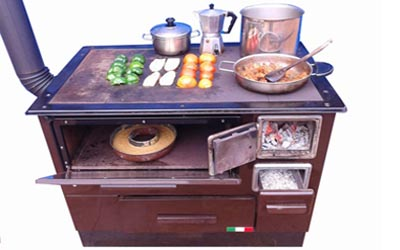 Kitchen Firewood Cook Stove & Oven from Italy for Sale. Environmentally friendly, smoke free firewood stove. Wood Machinery Ltd, Kampala Uganda
